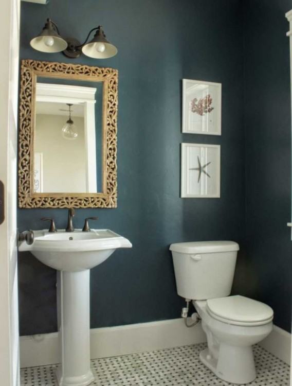 love this color!just  not sure how it would look in my small bathroom?