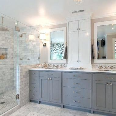 Grey And Brown Ceilings Combined With White Porcelain Toilet And Walk In Shower With. #decorating #home #housedecoration