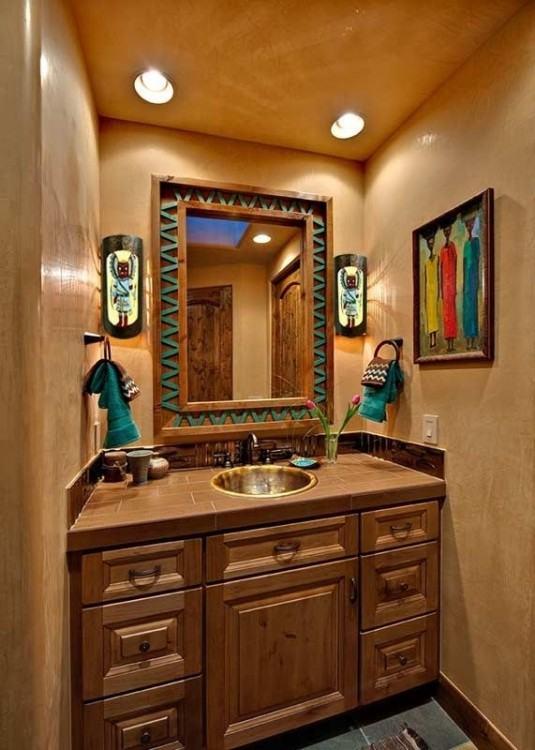 Southwest Bathroom Paint Colors Southwest Bathroom #bathroomsink #bathroomstyling #bathroomdesigns