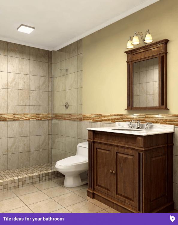 Bathroom with clear shower door