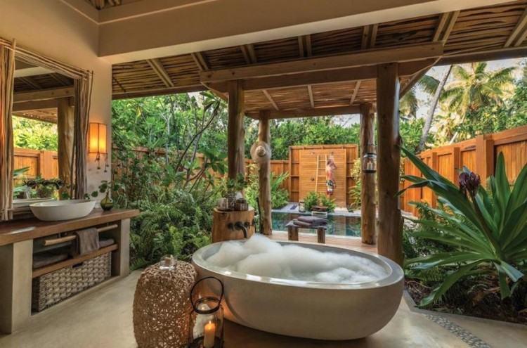 hawaiian themed bathroom tropical bathroom decor #bathroomgoals #interiordesign #interior