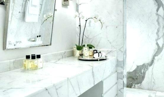 Bianco carrara marble hexagon tile bathroom floor and white and Gorgeous master bathroom with sage green paint color, white carrara marble linear tile Paint