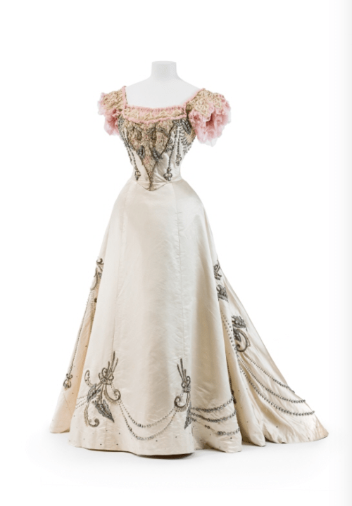 A collection of wedding dresses from the 1890s to the 1950s