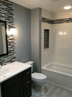 gray and blue bathroom ideas half bath ideas delightful small bathroom dark blue decorating navy wall #bathroom #bathroomdesign #lightdesign #salledebain #baderom