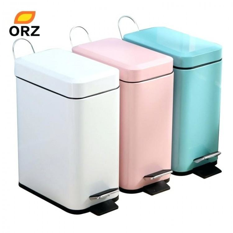trash can with lid bathroom graceful and elegant white ideas